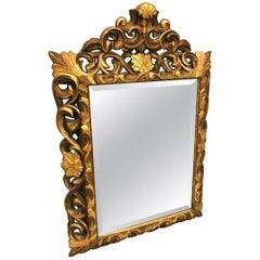 Napoleon III Golden Mirror, France, 19th Century