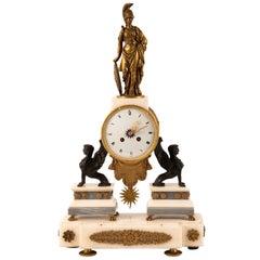 Napoleon III Greek Revival Mantle Clock