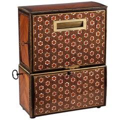 Napoleon III Inlaid Wood Marquetry Billet-Doux Cylinder Music Box