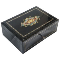 Napoleon III Jewelry Boulle Marquetry Box, France 19th Century