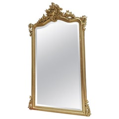 Napoleon III Large French Wall Mirror, 19th Century