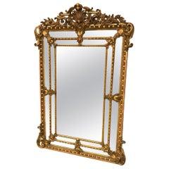 Napoleon III Large Gilt Mirror, France 19th Century