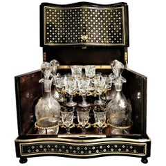 Napoleon III Liquor Cellar and Baccarat Crystal, France, 19th Century