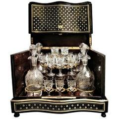 Napoleon III Liquor Cellar and Baccarat Crystal, France, 19th Century
