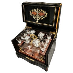 Napoleon III Liquor Cellar and Baccarat Crystal Set, France, 19th Century