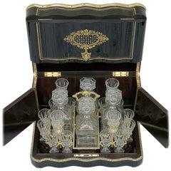Napoleon III Liquor Cellar Baccarat Crystal, France, 1865