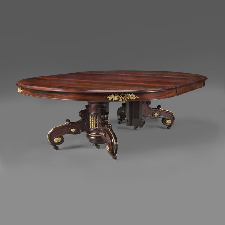 Napoléon III Mahogany Extending Dining Table by Maison Grohé, French, circa 1860 In Good Condition For Sale In London, GB