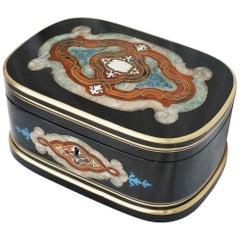 Napoleon III Maison Giroux Jewelry Decorative Boulle Marquetry Box