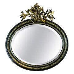 Napoleon III Mirror, circa 1970