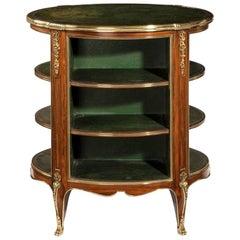 Napoleon III Open Kingwood and Leather Bookcase