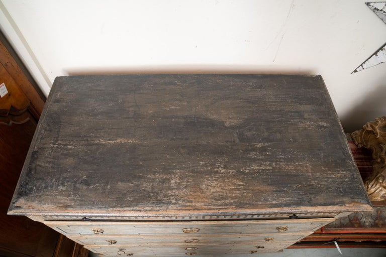 Wood Empire Danish Painted Commode For Sale