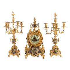 Napoleon III Period 19th Century Mantel Set