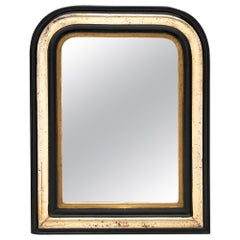 Napoleon III Period Black and Gold Mirror