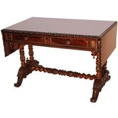 Napoleon III Period Boldly Figured Mahagany Sofa Table
