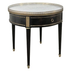 Napoleon III Period Ebonized Marble Top Gueridon, Lamp Table