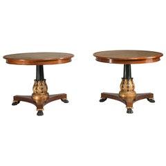 Napoleon III Period Mahogany Lacquered Rounded Gueridon Tables