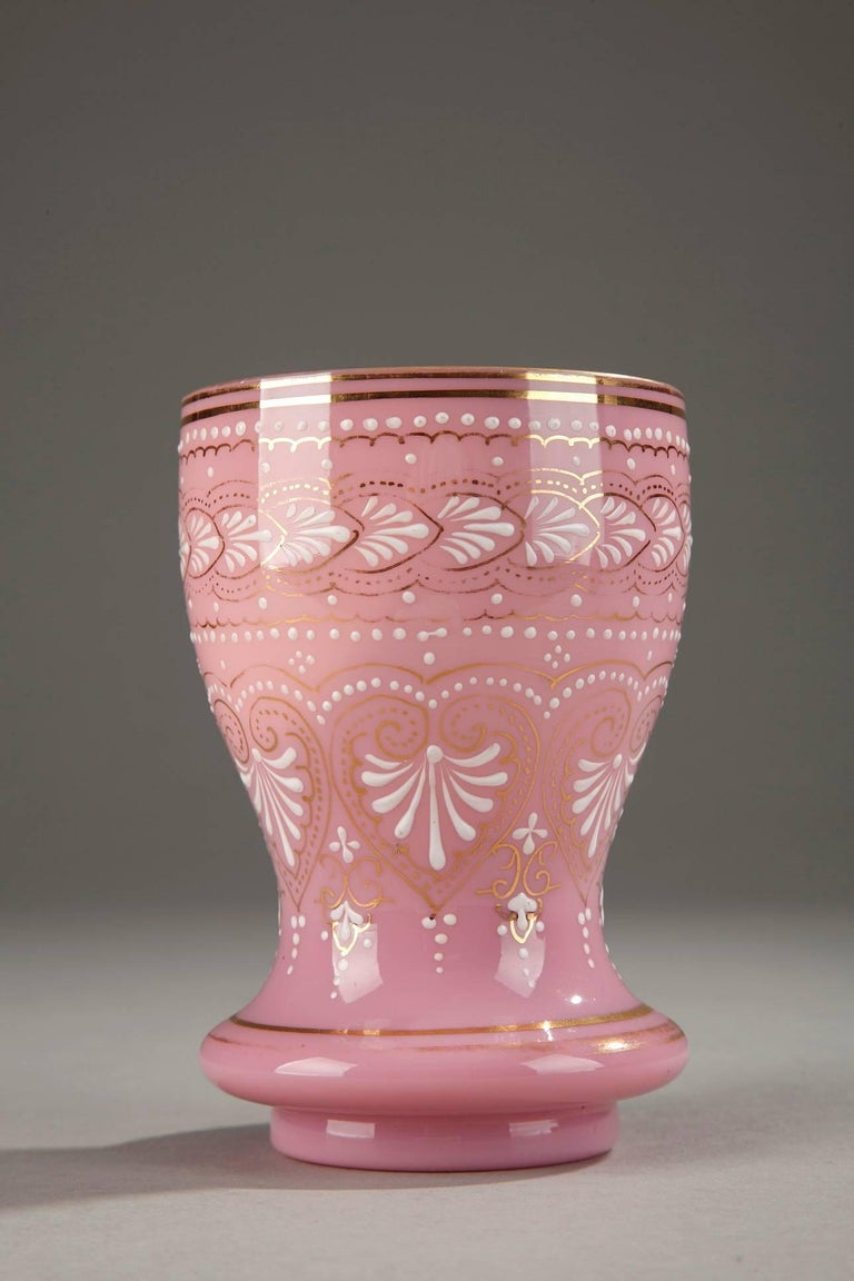19th Century Napoleon III-Period Opaline Glass Cup For Sale