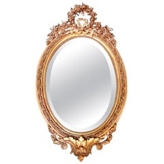 Napoleon III Rococò Style French Gilded Wood Mirror