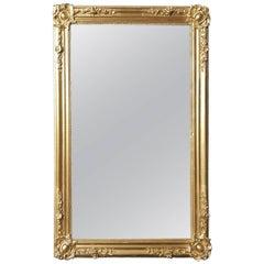 Napoleon III Style Big Gilt Mirror, France, 19th Century