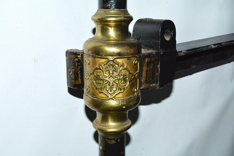 Napoleon III Style Brass and Iron Decorated King Headboard For Sale 6