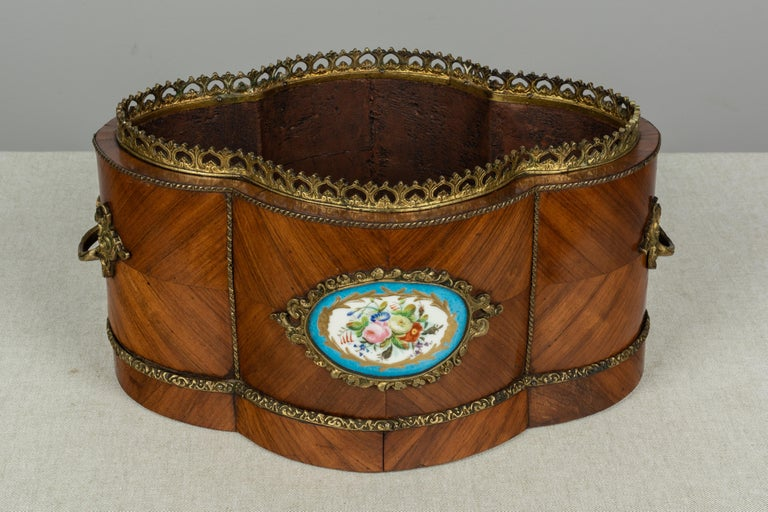 Porcelain Napoleon III Style Jardinière or Planter For Sale