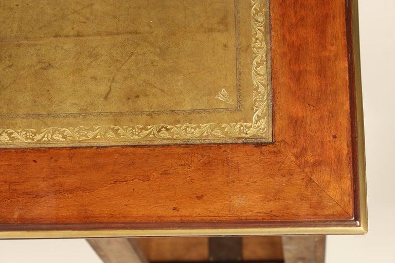 Napoleon III Style Mahogany Double Pedestal Desk For Sale 5