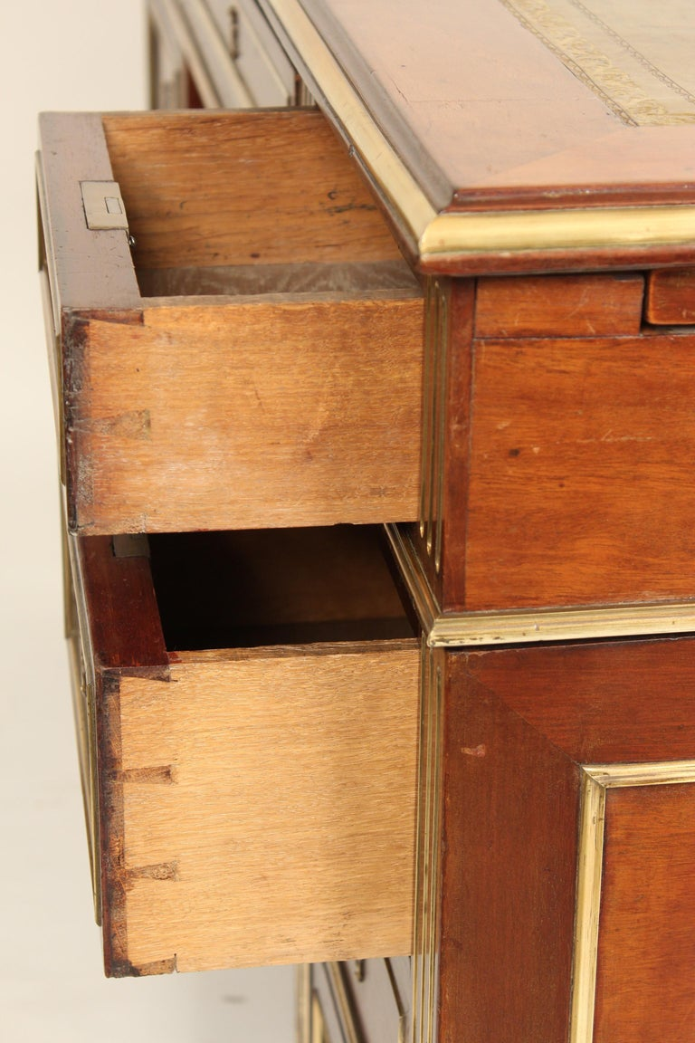 Napoleon III Style Mahogany Double Pedestal Desk For Sale 7