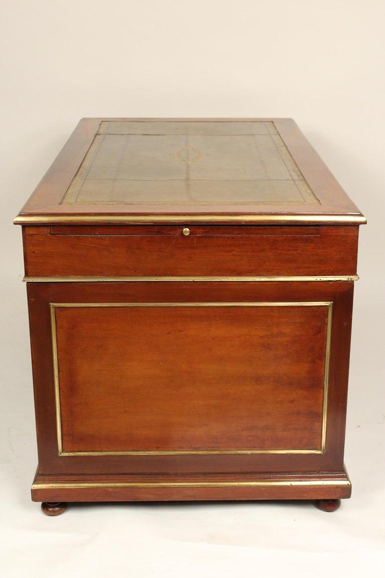 Napoleon III Style Mahogany Double Pedestal Desk For Sale 2