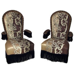 Napoleon III Style Pair of Luxurious Armchairs Designed by Jacques Garcia