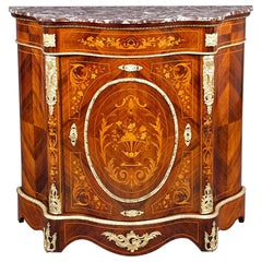 Napoleon III Style Sideboard Cabinet with Marble Top, circa 1900