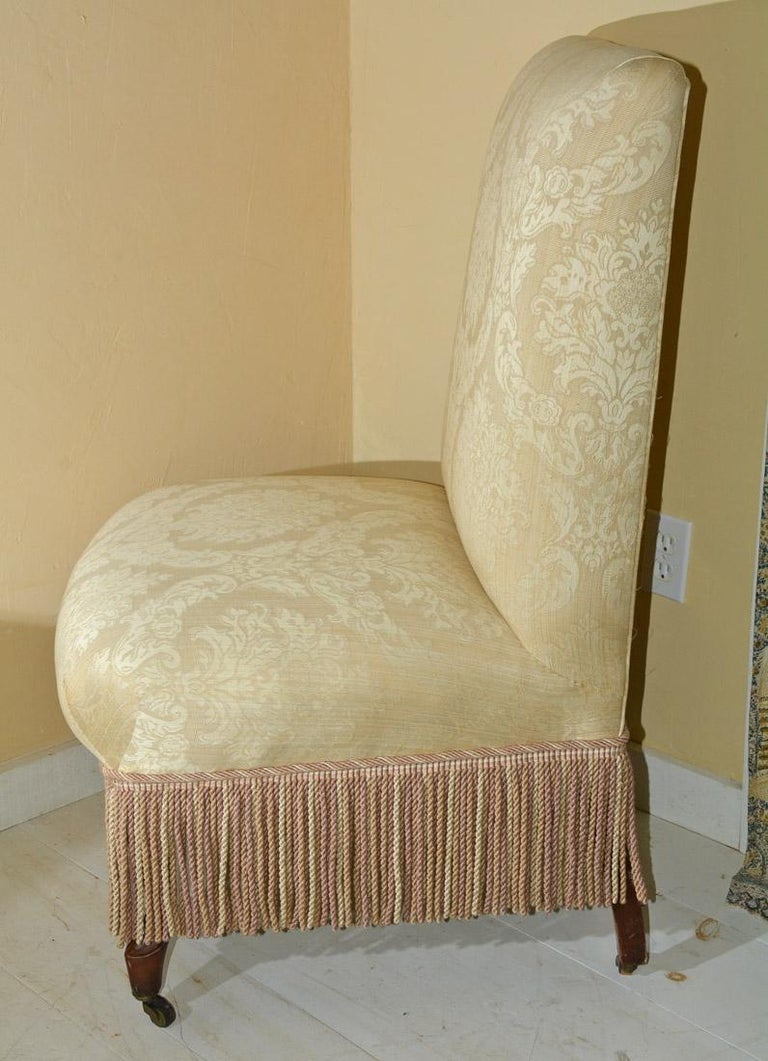 Unknown Napoleon III Style Slipper Chair For Sale