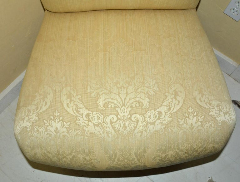 Fabric Napoleon III Style Slipper Chair For Sale