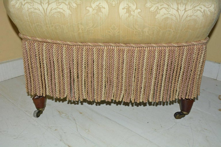 Napoleon III Style Slipper Chair For Sale 1