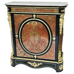 Napoleon III Tall Cabinet in Boulle Marquetry, France, 19th Century
