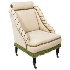 Napoleon III Upholstered Slipper Chair