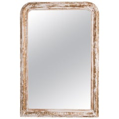 Napoleon III White Patinated Mirror