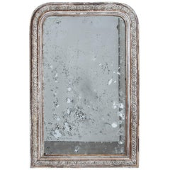 Napoleon III White and Polychrome Patinated Mirror