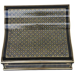Napoleon III Writing Desk Boulle Style Marquetry Box, France, 1870