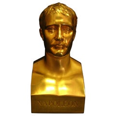 Napoleon Marble Bust in Antique Gold, 20th Century