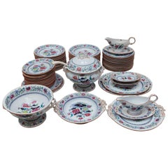 Napoleon Three Service Set Familie Rose Decor by Boch Freres, Keramis, Belgium