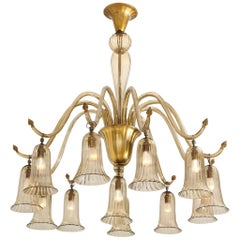 Napoleone Martinuzzi for Venini Chandelier