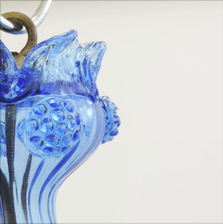 Early 20th Century Napoleone Martinuzzi Murano Glass Pendant Lamp, Italy, 1920 For Sale