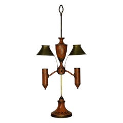 Napoleonic Revival Orange Tole Desk Lamp