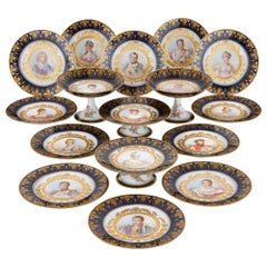 Napoleonic Sevres Style Porcelain Dessert Service