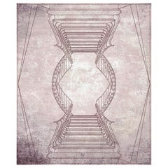 Napoli Rosa Polvere Hand-Knotted Wool and Silk 8 x 10ft Rug