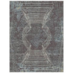 Napoli Fumo Hand-Knotted Wool and Silk 8 x 10ft Rug