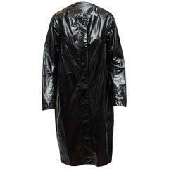 Narciso Rodriguez Black Patent Raincoat