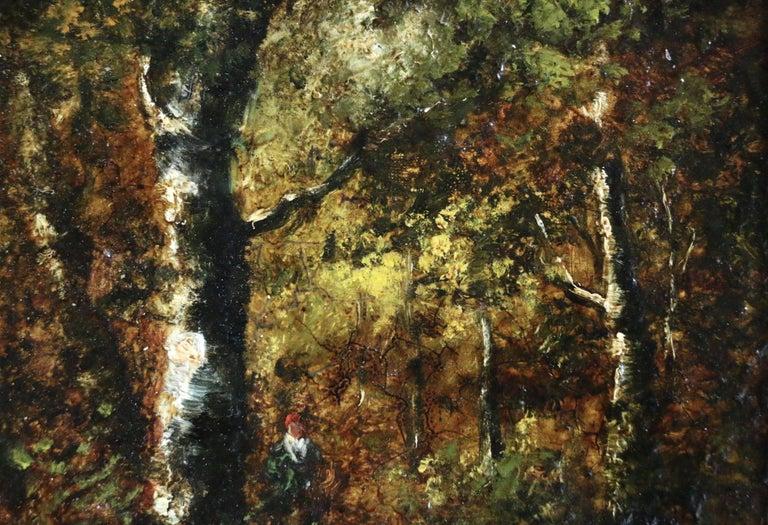 Figure in Forest - Painting by Narcisse Virgile Diaz de la Peña