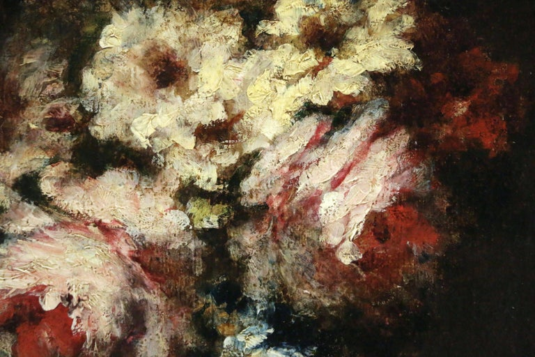 Flowers - Barbizon - Barbizon School Painting by Narcisse Virgile Diaz de la Peña