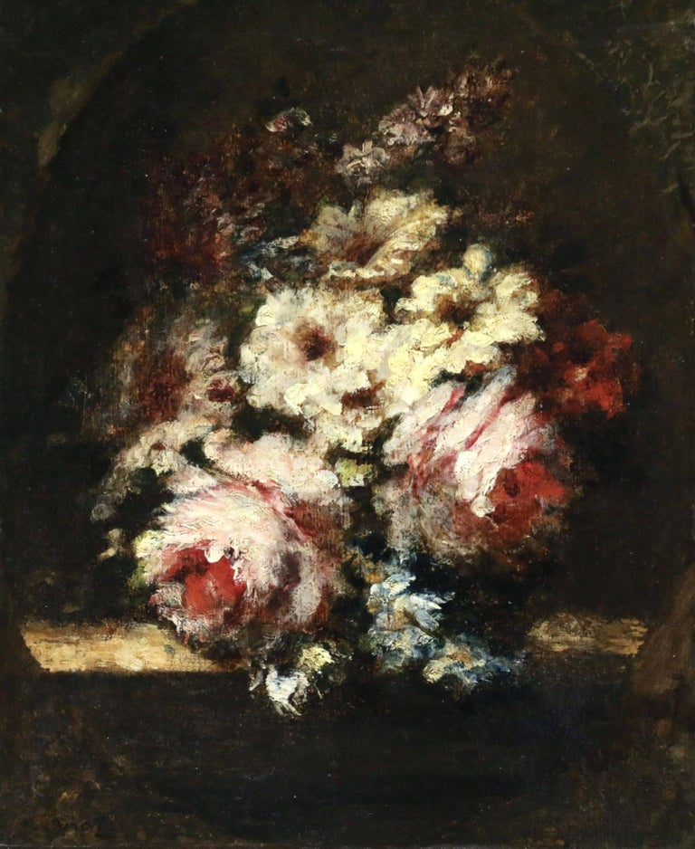 Narcisse Virgile Diaz de la Peña Still-Life Painting - Flowers - Barbizon